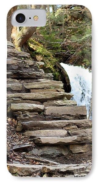 Mohawk Falls Steps IPhone Case by Patti Whitten