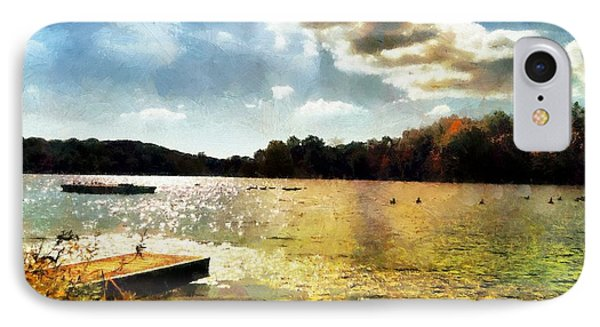 Mohegan Lake Gold IPhone Case by Derek Gedney