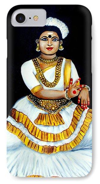 IPhone Case featuring the painting Mohiniyattam by Saranya Haridasan