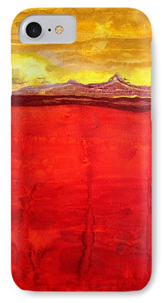 Mojave Dawn Original Painting Phone Case by Sol Luckman