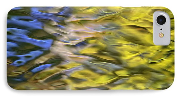 Mojave Gold Mosaic Abstract Art Phone Case by Christina Rollo