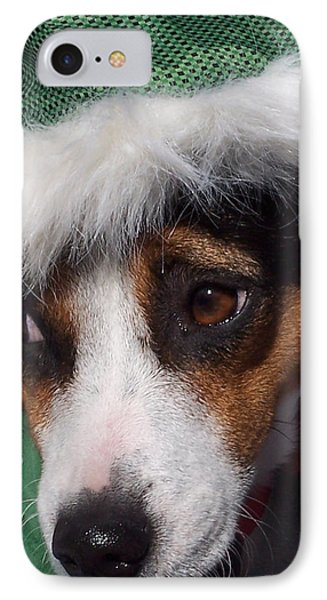 Mojo's New Holiday Coat IPhone Case by Claudia Goodell