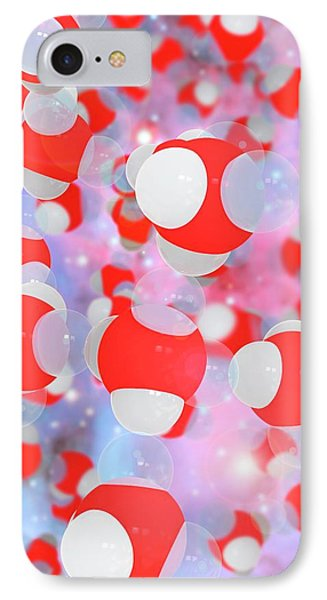 Molecular Structure Of Water IPhone Case by Ramon Andrade 3dciencia