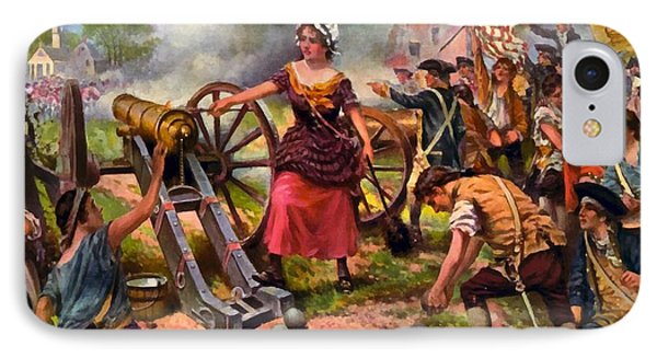 Molly Pitcher Firing Cannon At Battle Of Monmouth IPhone Case