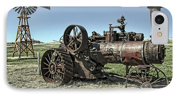 Molson Washington Ghost Town Steam Tractor And Wind Mill Phone Case by Daniel Hagerman