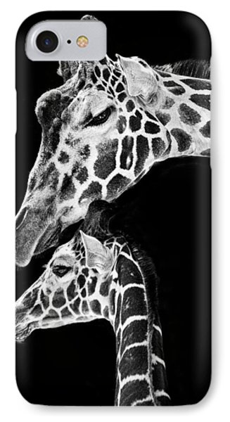 Mom And Baby Giraffe  IPhone 7 Case by Adam Romanowicz