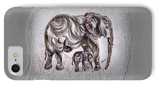 Mom Elephant IPhone Case by Harsh Malik