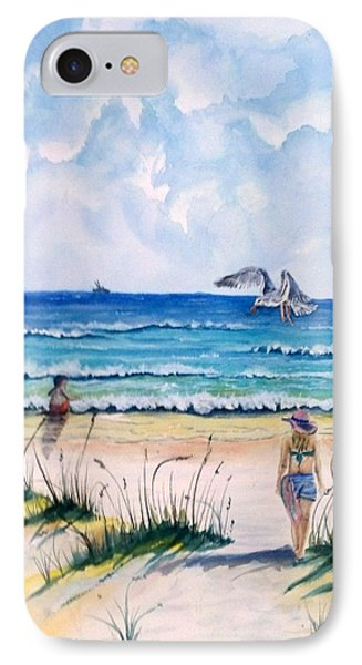 Mom Son Beach IPhone Case