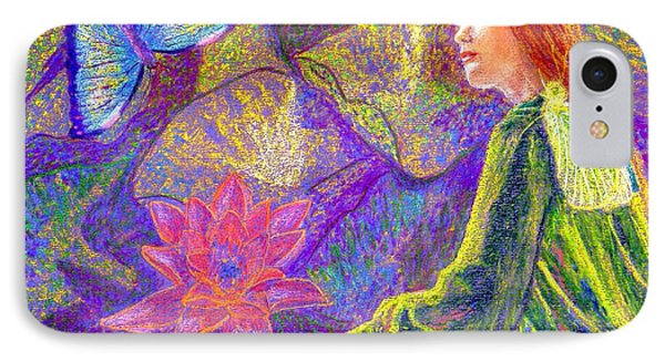 Meditation, Moment Of Oneness IPhone Case by Jane Small
