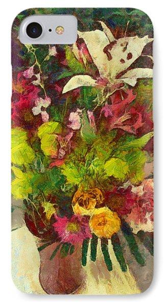 Mom's Flowers IPhone Case by Spyder Webb