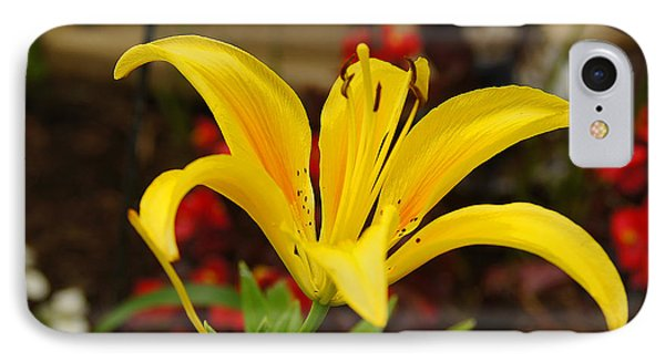 Mom's Yellow Flower IPhone Case by B Wayne Mullins