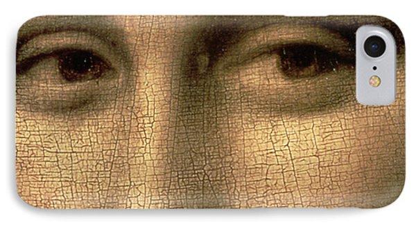 Mona Lisa    Detail Phone Case by Leonardo Da Vinci
