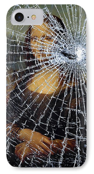 IPhone Case featuring the photograph Mona Lisa Shattered by Brian Carson