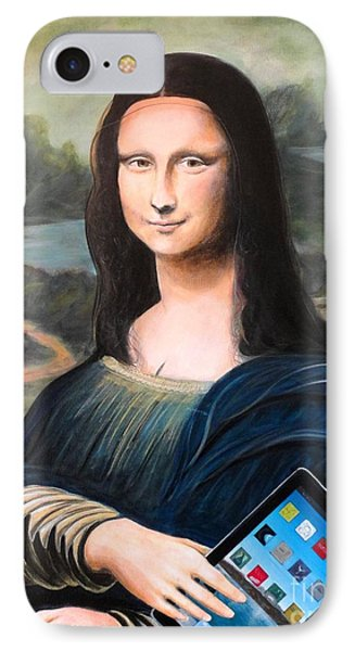 Mona Lisa With Ipad Phone Case by John Lyes