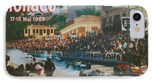 Monaco 1969 IPhone Case by Georgia Fowler