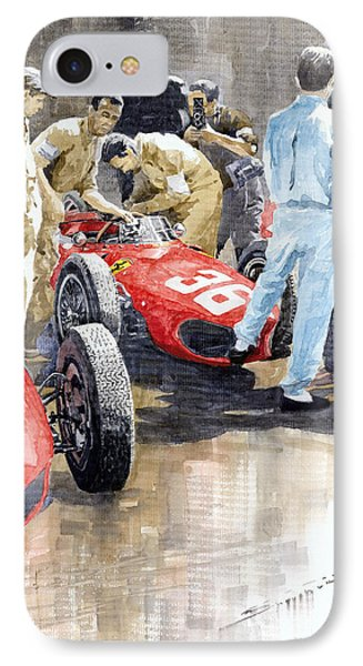 Monaco Gp 1961 Ferrari 156 Sharknose Richie Ginther IPhone Case by Yuriy Shevchuk