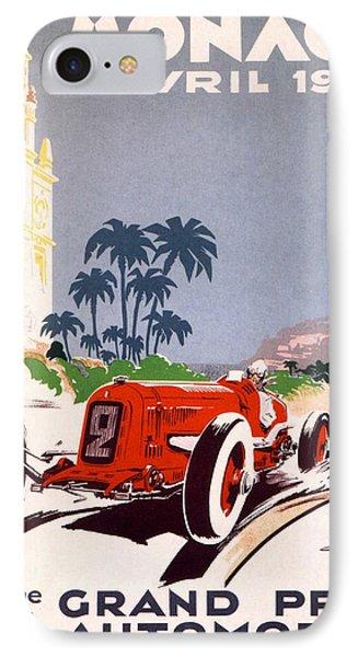 Monaco Grand Prix 1934 Phone Case by Georgia Fowler