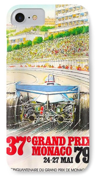 Monaco Grand Prix 1979 IPhone Case by Georgia Fowler