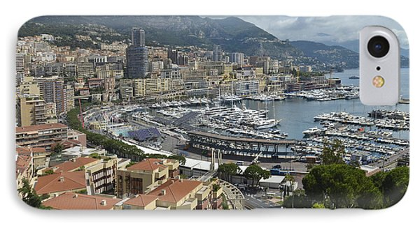 IPhone Case featuring the photograph Monaco Harbor by Allen Sheffield