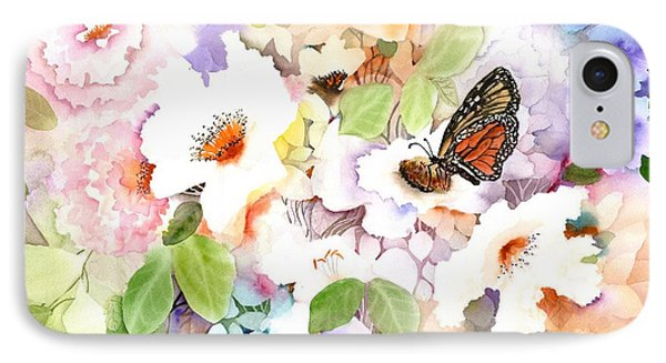 Monarch At My Garden IPhone Case by Neela Pushparaj