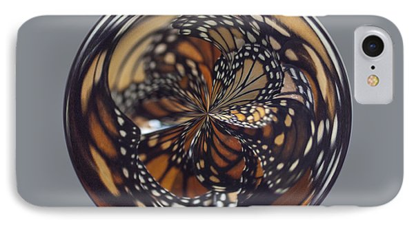 Monarch Butterfly Abstract Phone Case by Darleen Stry