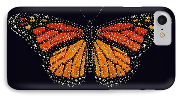 Monarch Butterfly Bedazzled IPhone Case by R  Allen Swezey