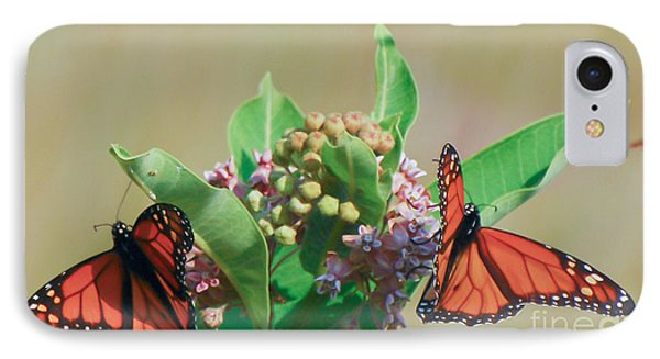 IPhone Case featuring the photograph Monarch Gathering by Kerri Farley