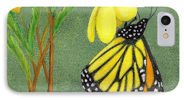 IPhone Case featuring the painting Monarch Gold by Fran Brooks