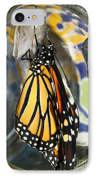 IPhone Case featuring the photograph Monarch In A Jar by Steve Augustin