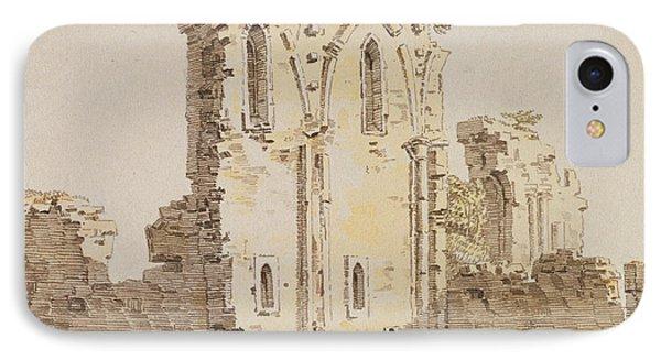 Monastery Ruins IPhone Case by Caspar David Friedrich
