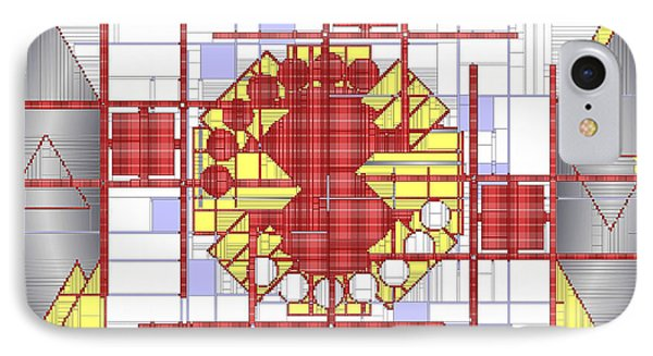 Mondrian Plaid Fx Phone Case by Mario Carini