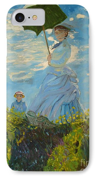 Monet-lady With A Parasol-joseph Hawkins IPhone Case by Joseph Hawkins