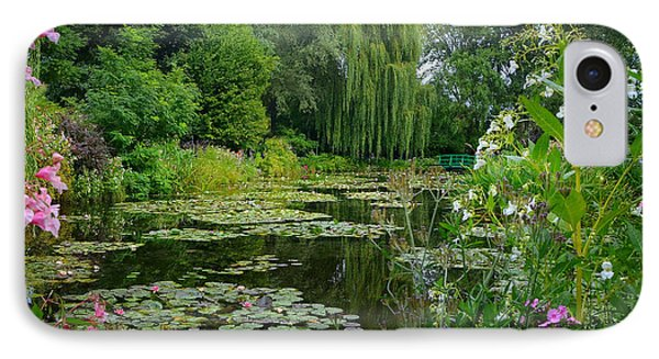 Monet's Pond With Waterlilies And Bridge Phone Case by Carla Parris