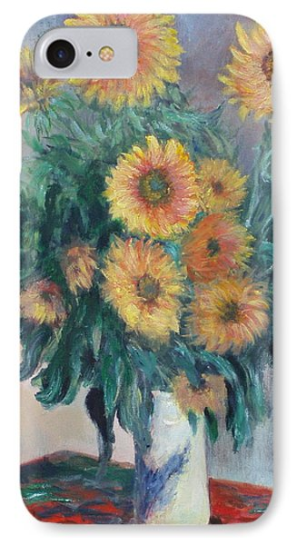 Monet's Sunflowers IPhone Case
