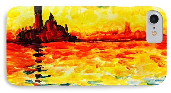 Monet's Sunset IPhone Case by Hae Kim