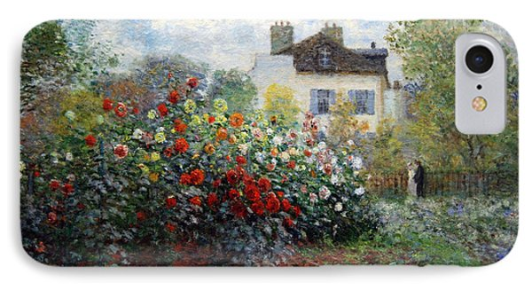 IPhone Case featuring the photograph Monet's The Artist's Garden In Argenteuil  -- A Corner Of The Garden With Dahlias by Cora Wandel