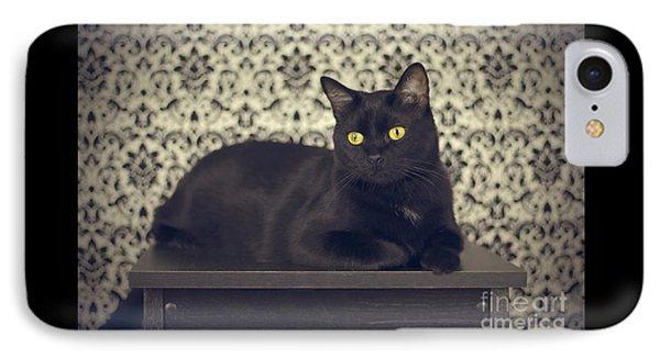 Mongo The Robust Cat IPhone Case by Jennifer Ramirez