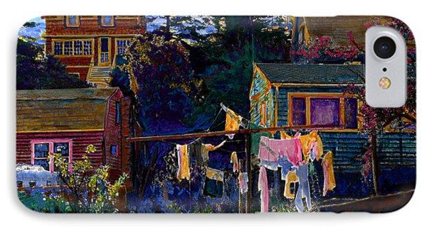 Monhegan Laundry IPhone Case by Cindy McIntyre
