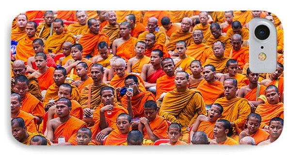 Monk Mass Alms Giving Phone Case by Fototrav Print