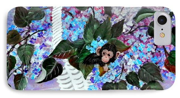 IPhone Case featuring the painting Monkey Busines by Fram Cama