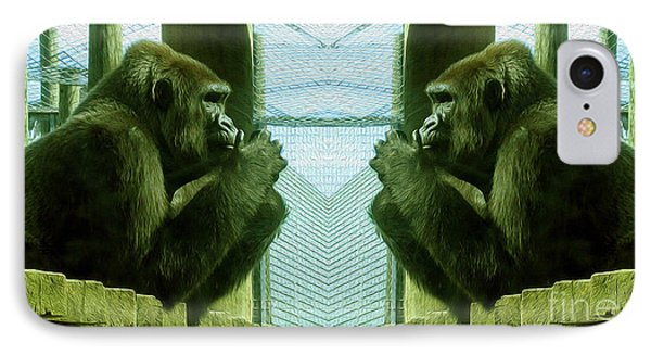 Monkey See Monkey Do IPhone Case by Nina Silver