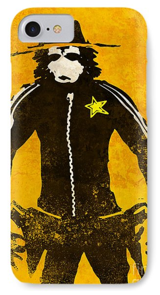 Monkey Sheriff IPhone Case by Pixel Chimp
