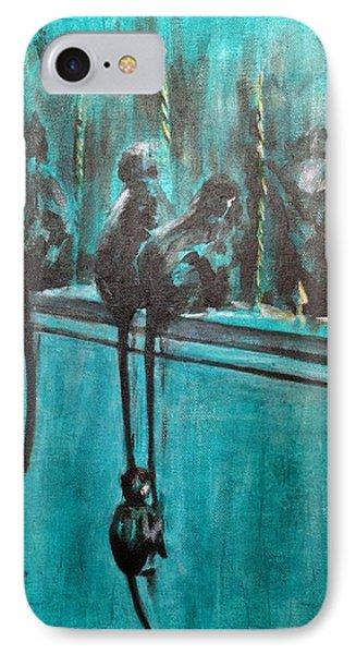 Monkey Swing Phone Case by Usha Shantharam
