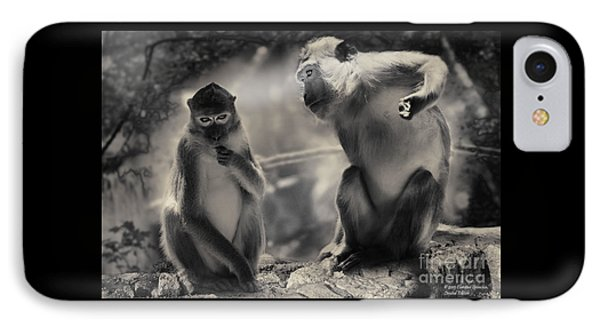 IPhone Case featuring the photograph Monkeys In Freedom by Christine Sponchia