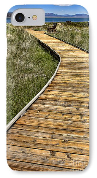 IPhone Case featuring the photograph Mono Lake Boardwalk 2 by Jason Abando