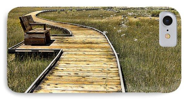 IPhone Case featuring the photograph Mono Lake Boardwalk  by Jason Abando