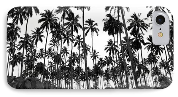 Monochrome Palms IPhone Case by April Reppucci