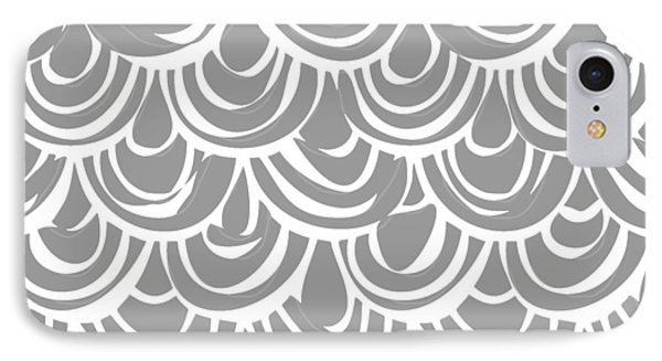 Monochrome Scallop Scales IPhone Case by Sharon Turner