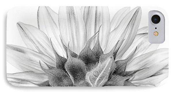 Monochrome Sunflower IPhone Case