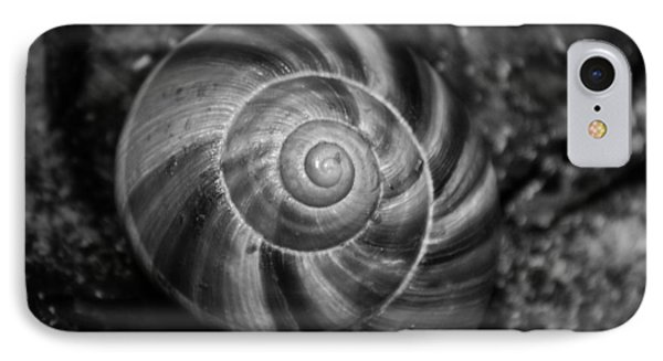 IPhone Case featuring the photograph Monochrome Swirl by Mary Zeman